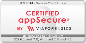 Genisys Credit Union Certified App Badge