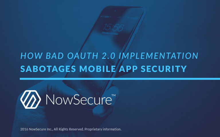 OAuth 2.0 mobile app security
